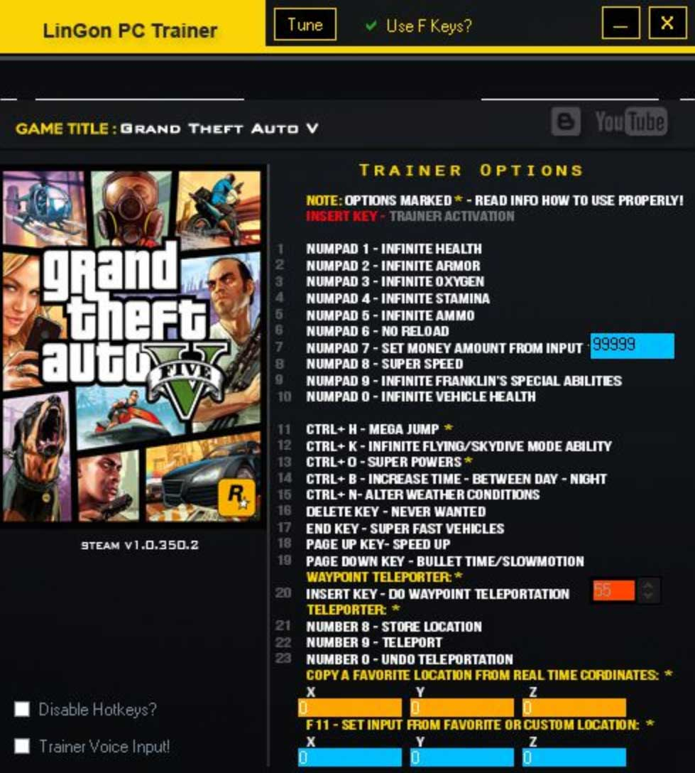 Cheat Trainer Software For GTAV