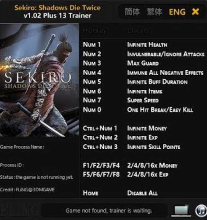 Sekiro: Shadows Die Trainer Software